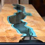 Лофт столы из массива дорогих пород дерева